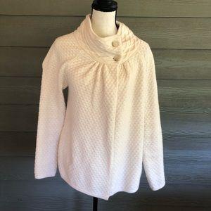 Ann Taylor LOFT KNIT CASHMERE WOOL cape Sweater